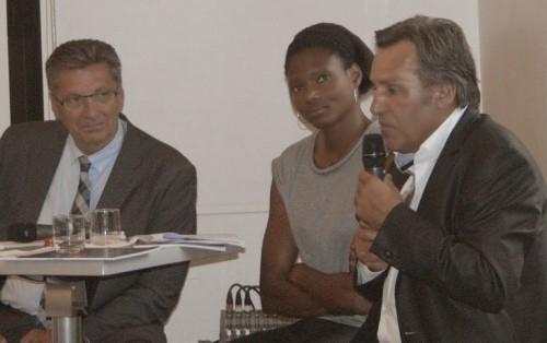 Daniel Costantini, Muriel Hurtis et Jean-René Bernaudeau