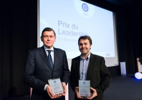 Georges Plassat et Frédéric Mazzella, lauréats du Prix du Leadership 2014