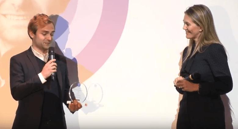Xavier Duportet, CEO Eligo Bioscience et Angélique Gérard, Directrice de la Relation Abonnés du Groupe Iliad