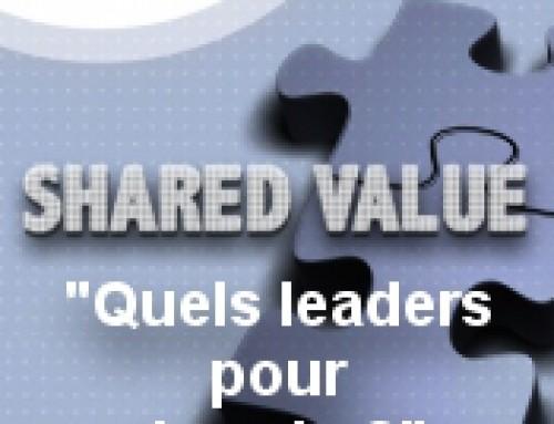 Invitation « Shared Value : quels leaders pour demain ? » : 2 novembre 2015