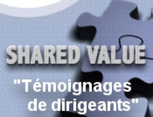Invitation « Shared value : Témoignages de dirigeants » : 24 mars 2015